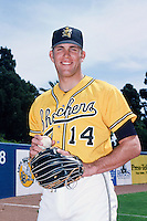 Braden Looper of the Wichita State Shockers poses for a photo before a 1996 NCAA baseball season game at Blair Field in Long Beach, California. (Larry Goren/Four Seam Images)