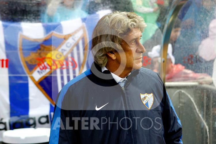 Malaga's coach Manuel Pellegrini during La Liga match, 2012/May/05..(ALTERPHOTOS/ARNEDO & ALCONADA)