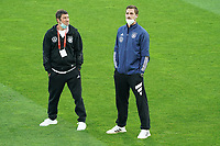 Torwarttrainer Andreas Kronenberg (Deutschland Germany), Torwart/Goalie Kevin Trapp (Deutschland Germany) - St. Gallen 02.09.2021: Lichtenstein vs. Deutschland, WM-Qualifikation, St. Gallen