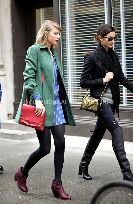WWW.ACEPIXS.COM<br /> <br /> March 28 2014, New York City<br /> <br /> Taylor Swift (L) and Lily Aldridge go for a stroll in Tribeca on March 28 2014 in New York City<br /> <br /> By Line: Curtis Means/ACE Pictures<br /> <br /> <br /> ACE Pictures, Inc.<br /> tel: 646 769 0430<br /> Email: info@acepixs.com<br /> www.acepixs.com