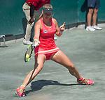 April 6,2017:   Kiki Bertens (NED) loses to Mirjana Lucic-Baroni (USA) 7-6, 6-4, at the Volvo Car Open being played at Family Circle Tennis Center in Charleston, South Carolina.  ©Leslie Billman/Tennisclix/Cal Sport Media