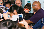 American singer and actress Selena Gomez arrives at Tokyo International Airport on August 1, 2016, Tokyo, Japan. After performing in the Philippines Gomez came to Japan for the first time in two years as part of her ''Revival'' world tour. Gomez will perform at the Tokyo International Forum on August 2 and 3. (Photo by Rodrigo Reyes Marin/AFLO)