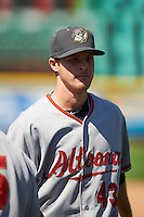 Altoona Curve pitcher Cody Dickson (43) after a game against the Erie SeaWolves on July 10, 2016 at Jerry Uht Park in Erie, Pennsylvania.  Altoona defeated Erie 7-3.  (Mike Janes/Four Seam Images)