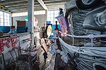 Carri allegorici in costruzione.<br /> Il carnevale di Gallipoli è tra i più noti della Puglia. La sua tradizione è antichissima ed è documentata, oltre che in atti e documenti settecenteschi, anche da radici folcloristiche che affondano le origini in epoca medioevale, tramandate fino ad oggi dallo spirito popolare. La prima edizione (per come la conosciamo) risale al 1941; nel 2014 sarà l'edizione numero 73.<br /> La manifestazione carnascialesca è organizzata dall' Associazione Fabbrica del Carnevale, nata nel febbraio 2013 con la finalità diorganizzare, promuovere e riportare in auge il Carnevale della Cittàdi Gallipoli. L'Associazione raccoglie al suo interno i maestri cartapestai Gallipolini e tanti giovani artisti, che vogliono valorizzare il Carnevale della città bella. Presidente dell'Associazione è Stefano Coppola.<br /> La manifestazione ha inizio il 17 gennaio, giorno di sant'Antonio Abate (te lu focu = del fuoco), con la Grande Festa del Fuoco, quando si accende con la tradizionale focara, un grande falò di rami d'ulivo. L'ultima domenica di carnevale e il martedì grasso lungo corso Roma, nel centro cittadino, si svolge la sfilata dei carri allegorici in cartapesta e dei gruppi mascherati corso Roma davanti a migliaia di spettatori provenienti da tutta la provincia di Lecce e da città pugliesi. Il tema dell'edizione di quest'anno è un omaggio a Walter Elias Disney.<br /> <br /> Floats under construction.<br /> The Carnival of Gallipoli is among the best known of Puglia. Its tradition is very old and is documented , as well as records and documents in the eighteenth century , as well as folkloric roots that sink their roots in medieval times , handed down today by the popular spirit . The first edition dates back to 1941 and in 2014 will be the edition number 73 .<br /> The carnival is organized by the Association of Carnival Factory , founded in February 2013 with the objective to organize, promote and revive the Carnival of the city of Gallipoli. The As