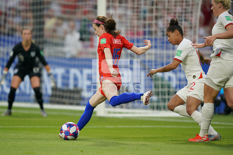 DECINES-CHARPIEU, FRANCE - JULY 02: Rose Lavelle #16 during a 2019 FIFA Women's World Cup France Semi-Final match between England and the United States at Groupama Stadium on July 02, 2019 in Decines-Charpieu, France.