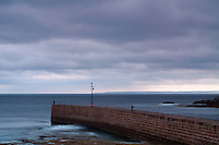 Porthleven Harbour and Mounts Bay, Porthleven, Cornwall