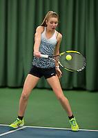 March 14, 2015, Netherlands, Rotterdam, TC Victoria, NOJK, Evelyne de Mey (NED)<br /> Photo: Tennisimages/Henk Koster