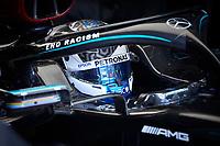 10th October 2020, Nuerburgring, Nuerburg, Germany; FIA Formula 1 Eifel Grand Prix, Qualifying sessions;  77 Valtteri Bottas FIN, Mercedes-AMG Petronas Formula One Team takes pole