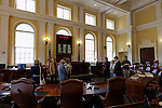Visitors to the State House, Augusta, Maine, USA