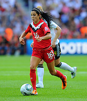 Jonelle Filigno of Canada during the FIFA Women's World Cup at the FIFA Stadium in Berlin, Germany on June 26th, 2011.