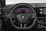 Car pictures of steering wheel view of a 2020 Skoda Scala Monte-Carlo 5 Door Hatchback Steering Wheel