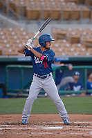 Los Angeles Dodgers second baseman Brandon Montgomery (11) during a Minor League Spring Training game against the Seattle Mariners at Camelback Ranch on March 28, 2018 in Glendale, Arizona. (Zachary Lucy/Four Seam Images)