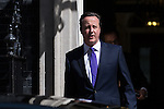 © Joel Goodman - 07973 332324 . 11/05/2015 . London , UK . The British Prime Minister , DAVID CAMERON , leaves 10 Downing Street this morning (11th May 2015) . Photo credit : Joel Goodman