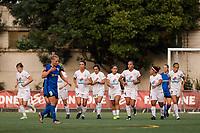 Seattle, WA - Sunday, September 24th, 2017: FC Kansas City celebrate Shea Groom's goal during a regular season National Women's Soccer League (NWSL) match between the Seattle Reign FC and FC Kansas City at Memorial Stadium.