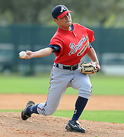 17 March 2009: RHP Sung Ki Jung of the Atlanta Braves at Spring Training camp at Disney's Wide World of Sports in Lake Buena Vista, Fla. Photo by:  Tom Priddy/Four Seam Images