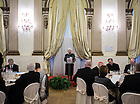 Jan. 27, 2014; Maria Voce deliver the keynote address at a lunch after receiving an honorary degree from the University of Notre Dame at the Notre Dame Rome Centre.<br /> <br /> Photo by Matt Cashore/University of Notre Dame