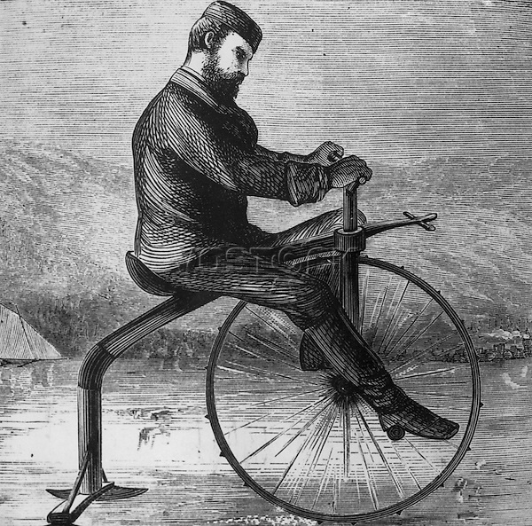 Ice Bike, 1880s Artist Unknown