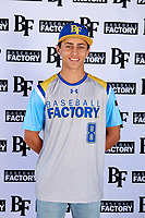 Ethan Durant (8) of Woodland Hills-Taft High School in Tarzana, California during the Baseball Factory All-America Pre-Season Tournament, powered by Under Armour, on January 12, 2018 at Sloan Park Complex in Mesa, Arizona.  (Mike Janes/Four Seam Images)