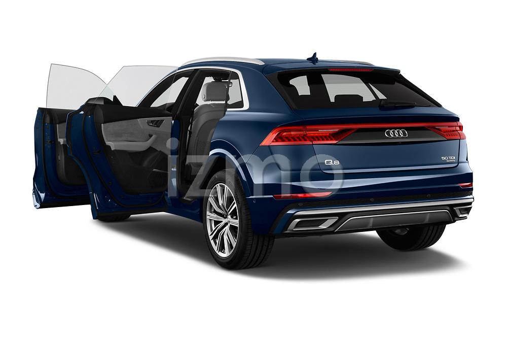 Car images close up view of a 2019 Audi Q8 S Line 5 Door SUV doors