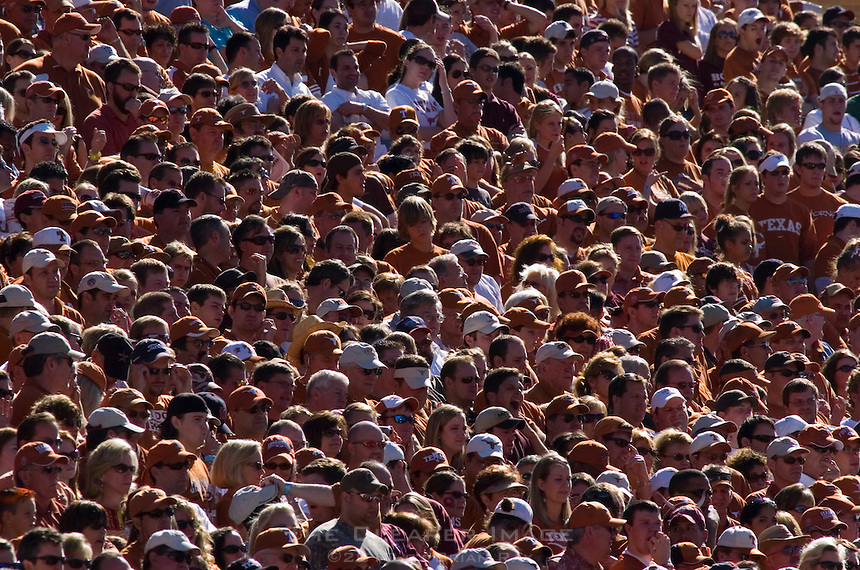24 November 2006: The seats are filled for the Lonestar Showdown football game between the University of Texas Longhorns and the Texas A&M Aggies at Darrell K Royal Memorial Field in Austin, TX.