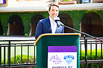DEL MAR,CA-AUGUST 17: 08-17-18 Announcement about 2021 Breeders' Cup at Del Mar at Del Mar Race Track on August 17,2018 in Del Mar,California (Photo by Kaz Ishida/Eclipse Sportswire/Getty Images)