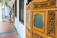 Singapore. Five-foot Walkway Connects Early Twentieth Century Houses on Emerald Hill Road.