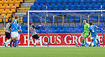 St Johnstone v Dunfermline... 13.08.11   SPL Week 4.Andy Kirk makes it 1-0.Picture by Graeme Hart..Copyright Perthshire Picture Agency.Tel: 01738 623350  Mobile: 07990 594431