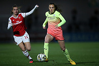 Caroline Weir of Manchester City during Arsenal Women vs Manchester City Women, FA Women's Continental League Cup Football at Meadow Park on 29th January 2020