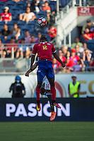 Orlando, Florida - Saturday, June 04, 2016: Costa Rican midfielder Joel Campbell (12) flicks the bal during a Group A Copa America Centenario match between Costa Rica and Paraguay at Camping World Stadium.
