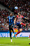 Atletico de Madrid's Diego Godin and Club Brugge's Stefano Denswil during UEFA Champions League match between Atletico de Madrid and Club Brugge at Wanda Metropolitano Stadium in Madrid, Spain. October 03, 2018. (ALTERPHOTOS/A. Perez Meca)