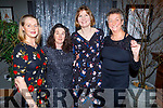 Marie Townsend, Treasa Ryle, Heidi Giles and Sue Cooke enjoying the Tralee Rowing Clubs party in the Ashe Hotel on Saturday.