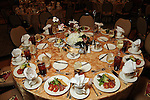 One of the tables at the Guardian of the Human Spirit Luncheon at the Hilton Americas Hotel Monday Nov. 05,2012.(Dave Rossman photo)