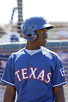 Oduber Herrera, Texas Rangers minor league spring training..Photo by:  Bill Mitchell/Four Seam Images.