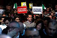 Matteo Salvini's supporters<br /> Rome February 16th 2020. Convention 'Salvini meets Rome'.<br /> Foto Samantha Zucchi Insidefoto