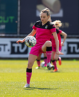 Renate-Ly Mehevets (15) of Sporting Charleroi pictured during a female soccer game between Eendracht Aalst and Sporting Charleroi on the third matchday of play off 2 of the 2020 - 2021 season of Belgian Scooore Womens Super League , Saturday 24 th of April 2021  in Aalst , Belgium . PHOTO SPORTPIX.BE | SPP | KRISTOF DE MOOR