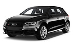 2018 Audi S3 Sportback Base 5 Door Hatchback angular front stock photos of front three quarter view