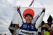 Takuma Sato, Rahal Letterman Lanigan Racing Honda victory lane