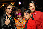 """Tim Thompson, Norma Catlin, Grace Rodriguez and Matthew Wettergreen at the Planned Parenthood's """"Party Like a Rock Star"""" benefit at Warehouse Live Saturday Aug. 22, 2009.(Dave Rossman/For the Chronicle)"""