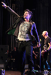 Danny O'Donoghue singer for the Irish rock back 'The Script' performs at the Mann Music Center in Philadelphia, Pennsylvania June 3, 2011. .Copyright EML/Rockinexposures.com.