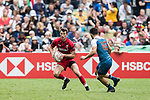 Wales vs France during their Pool D match as part of the HSBC Hong Kong Rugby Sevens 2018 on 07 April 2018, in Hong Kong, Hong Kong. Photo by Yu Chun Christopher Wong / Power Sport Images