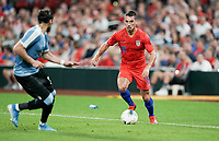 St. Louis, MO - SEPTEMBER 10: Daniel Lovitz #16 of the United States moves with the ball during their game versus Uruguay at Busch Stadium, on September 10, 2019 in St. Louis, MO.