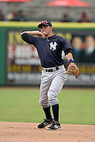New York Yankees third baseman Angel Aguilar (2) during an Instructional League game against the Philadelphia Phillies on September 23, 2014 at the Bright House Field in Clearwater, Florida.  (Mike Janes/Four Seam Images)