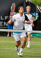 18-06-13, Netherlands, Rosmalen,  Autotron, Tennis, Topshelf Open 2013, , Jesse Huta Galung(L) and Thiemo de Bakker in the doubles<br /> <br /> Photo: Henk Koster