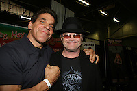Lou Ferrigno & ATWT Mickey Dolenz appears at Big Apple Comic Con for autographs and photos on October 16 (and 17 & 18), 2009 at Pier 94, New York City, New York. (Photo by Sue Coflin/Max Photos)