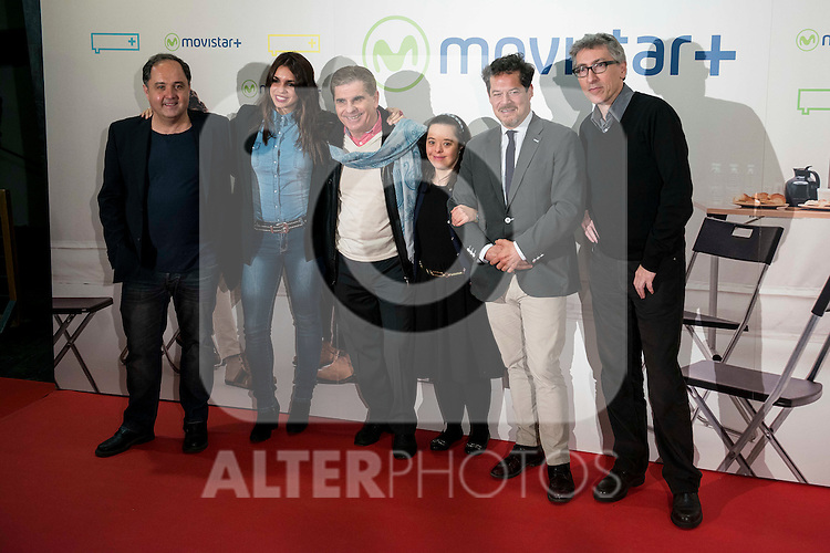 """The cast attends to the premire of the film """"Que fue de Jorge Sanz"""" at Cinesa Proyecciones in Madrid. February 10, 2016."""