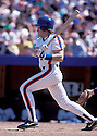 New York Mets Gary Carter (8) in action during a game from his 1988 season at Shea Stadium in Flushing Meadows, New York. Gary Carter played for 19 years and was inducted to the Baseball Hall of Fame in 2003.