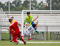 Lakewood Ranch, FL - Sunday July 23, 2017: Gregory Brigman #2, goalkeeper Sean Boyle during an international friendly match between the paralympic national teams of the United States (USA) and Canada (CAN) at Premier Sports Campus at Lakewood Ranch.