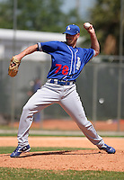 Los Angeles Dodgers minor leaguer Eric Cyr during Spring Training at Dodgertown on March 22, 2007 in Vero Beach, Florida.  (Mike Janes/Four Seam Images)