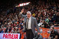 VALENCIA, SPAIN - JANUARY 6: Soulis Markopoulos during EUROCUP match between Valencia Basket and PAOK Thessaloniki at Fonteta Stadium on January 6, 2015 in Valencia, Spain
