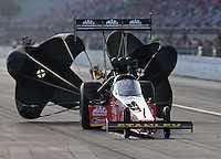 Mar 15, 2014; Gainesville, FL, USA; NHRA top fuel dragster driver Doug Kalitta during qualifying for the Gatornationals at Gainesville Raceway Mandatory Credit: Mark J. Rebilas-USA TODAY Sports